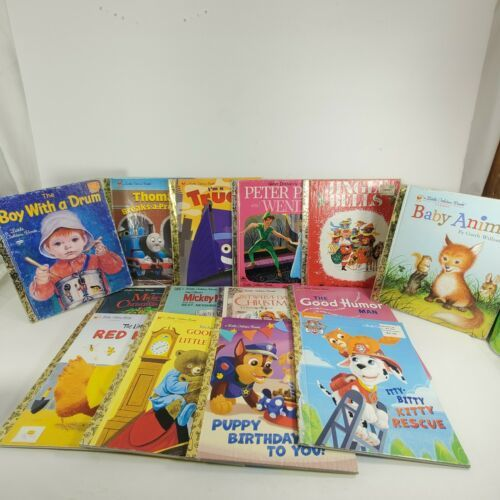 Primary image for Lot Of 14 Little Golden Books 1952 - 2006 Peter pan mickey Christmas paw patrol