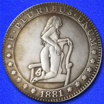 "Sexy Girl 21 ""Hobo Nickel"" on Morgan Dollar Coin ** - $3.79"