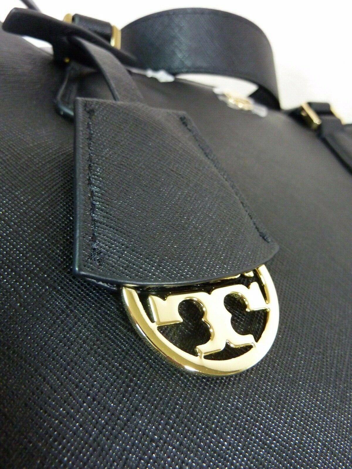 NWT Tory Burch Black Saffiano Leather Robinson Triple-compartment Tote $458