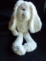 Boyds Bears Bunny Rabbit White Baby Plush Stitched Eyes Pink Nose Bean B... - $29.35