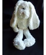 Boyds Bears Bunny Rabbit White Baby Plush Stitched Eyes Pink Nose Bean B... - $29.35
