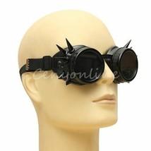 Spike Motorcycle Glasses - SUPER DARK LENS Goggles - Biker Accessories N... - $22.49