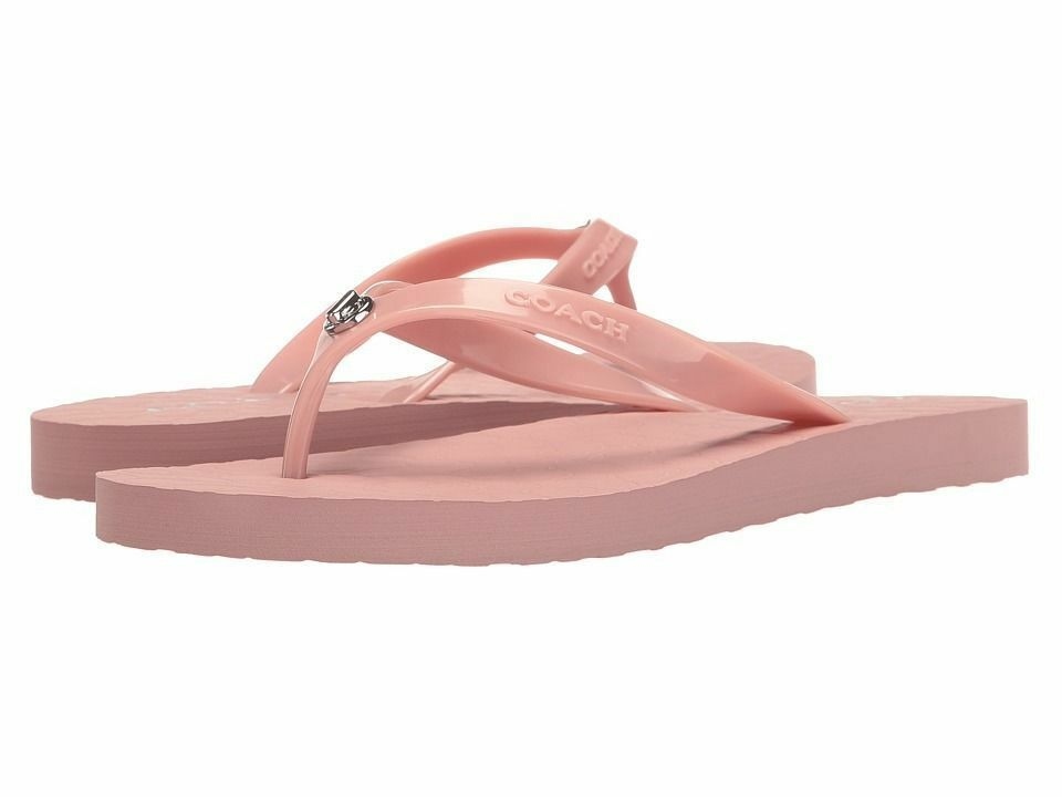 COACH ABBIGAIL RUBBER SANDALS / FLIP- FLOPS / PINK // NEW in BOX !!