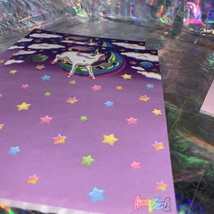 3 Sheets Vintage Lisa Frank Markie The Unicorn Stationery EXC COND HTF