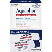 Aquaphor Healing Skin Ointment, Advanced Therapy, 2 Pack, 0.35 oz ea Pack of 2
