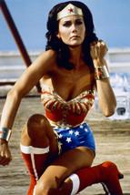Wonder Woman Lynda Carter Crouching Action 18x24 Poster - $23.99
