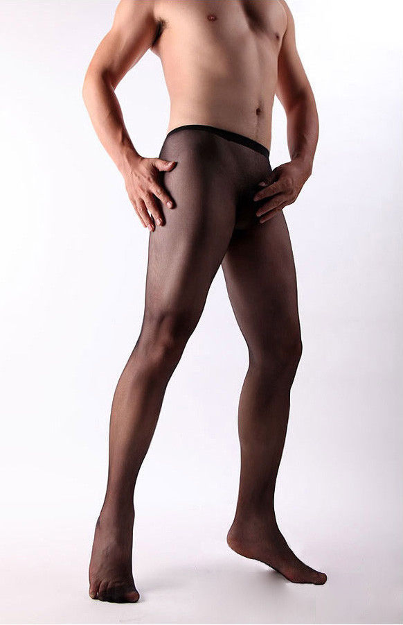 90a5c670d Male Full Seamless Nylons sheath closed Men leg shiny Bodyhose Stockings  Tights