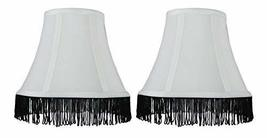 Urbanest Set of 2 Silk Bell Lamp Shades, 5-inch by 9-inch by 7-inch, Off White w - $29.69