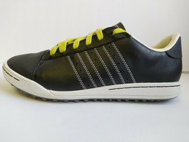 Adidas adiCross Junior 6 1/2 Golf Shoes - Black/White Spikeless Leather - $74.24