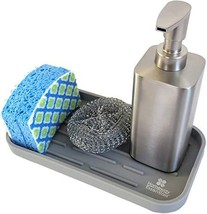 Kitchen Sink Organizer | Soap Caddy and Sponge Holder | Silicone Tray fo... - $10.82