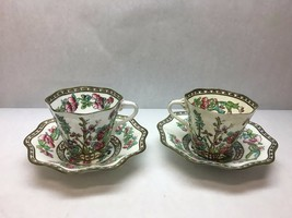 VINTAGE Coalport CHINA Indian SUMMER Pattern SET OF 2 Large COFFEE Cups ... - $71.27