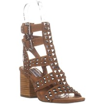 Steve Madden Double Block Heeled Sandals, Tan Suede, 6.5 US - $32.63