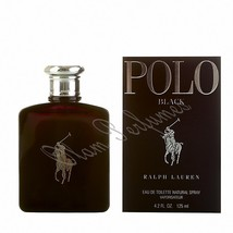 Ralph Lauren Polo Black For Men Edt Spray 4.2oz 125ml * New in Box Sealed * - $68.59