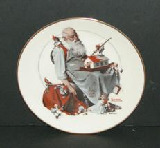 "Norman Rockwell ""Santa's Helpers"" Gorham Christmas Collectors Plate 1979 - $24.98"