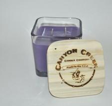 NEW Canyon Creek Candle Company 14oz Cube jar LAVENDER Handmade! - $29.94