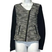 anthropologie drew striped zip front Long Sleeve cotton blazer Size XS - $29.69