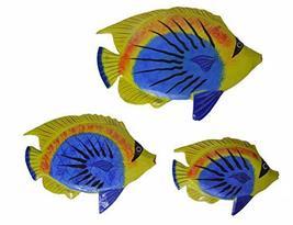 Beautiful Unique Set of 3 BIG EYE Dory Nemo Fish Wood Wall Art - $19.74