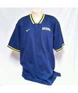 VTG Nike Michigan Wolverines Shooting Shirt Warm Up Jersey Authentic 90'... - $39.99