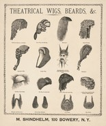 Wall Decor Poster.Room interior art design.Early theater wig beard catal... - $10.89+