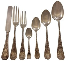 Antique Chased by Gorham Sterling Silver Flatware Set for 16 Service 112 pcs - $13,500.00