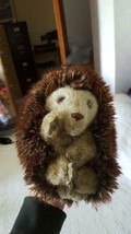 """ADORABLE PLUSH 7"""" FOLKMANIS HEDGEHOG HAND PUPPET,TURNS INSIDE OUT BALL, ... - $9.89"""