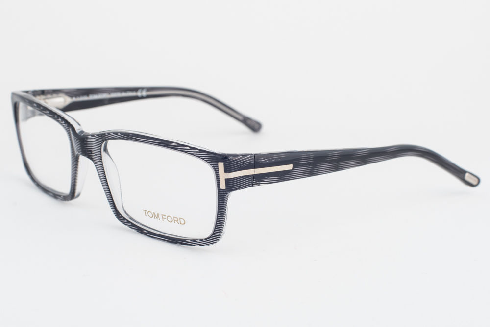dd156411c14d5 Tom Ford 5013 R92 Striped Gray Eyeglasses and 50 similar items