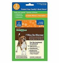 Premium SENTRY HC WormX Plus 7 Way De-Wormer For Small Dog, 2 Chewable T... - $16.82