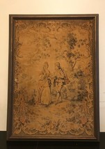 "Vintage/Antique Tapestry  Art Crafts /Frame 25 1/2""x35""x1"" - $92.57"