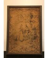 """Vintage/Antique Tapestry  Art Crafts /Frame 25 1/2""""x35""""x1"""" - $92.57"""