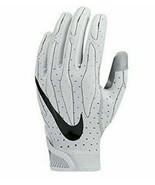 MenS Nike Superbad 4 Football Gloves White/Grey yYM #410G - $19.79