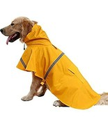 NACOCO Large Dog Raincoat Adjustable Pet Water Proof Clothes Lightweight... - $21.77