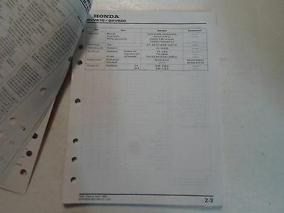 2000 Honda Motoren GXV610K1 GXV620K1 Shop Manuell Locker Blatt Werk OEM Buch 00