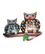 Shop LC Multi Color Iron Double Owl Wall Hanging 14.56x1.57x11.81 - $19.00