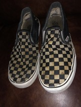 Vintage Old School Checkerboard Vans Slip-on Size 12 Blue Gray Off The Wall - €26,76 EUR