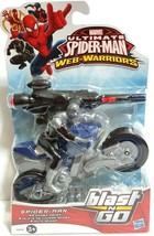 Marvel Ultimate Spiderman Black Suit Blast and Go Spider Racer - $23.36
