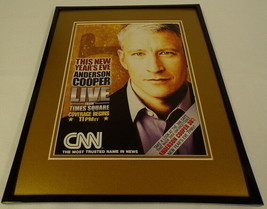 Anderson Cooper 2005 CNN New Year's Eve Framed 11x14 ORIGINAL Advertisem... - $22.55