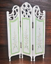 "Dollhouse Miniature Floral Tri Folding Wood Screen 1:12 Scale 6 1/8"" x 4 5/8"" - $15.99"