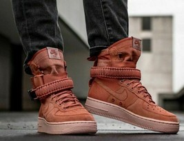 NIKE SF AF1 AIR FORCE 1 DUSTY PEACH 864024 204 US MENS SZ 9 - $59.39