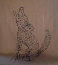 Small Howling Coyote Topiary Frame - $65.00