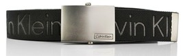 New Calvin Klein Men's Premium CK Logo Cotton Adjustable 38mm Canvas Belt 73545 image 2