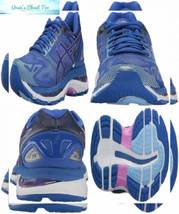 ASICS Womens Gel-Nimbus 19 Running Shoe 8, Blue Purple/Violet/Airy - $139.99