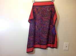 Beautiful Square Multicolor Paisley Patterned Scarf image 2