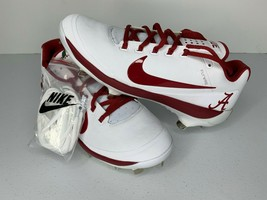 NEW Size 7 Nike Max Air PE Alabama Crimson Roll Tide Baseball Cleats AO8... - $49.49
