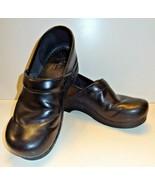 Dankso Black Leather Nursing Work Pro Occupational Clogs SZ EU 43 / US 1... - $34.99