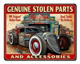 Genuine Stolen Parts and Accessories Rat Rod Garage Metal Sign - $30.00