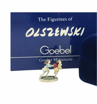Goebel Olszewski 1986 Children's Series Backyard Frolic Miniature With Box - $27.89