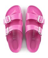 Birkenstock Womens Arizona Eva Neon Pink Narrow Straps Fashion Sandals 1... - $79.99