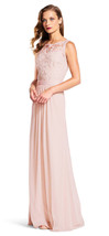 Adrianna Papell Women's Sequin Mesh Stretch Tulle Gown with Lace Bodice - $119.99
