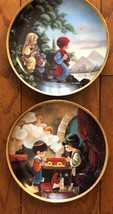 2 Precious Moments Collectors Plates Carpenter Shop Flight into Egypt Hamilton - $27.68
