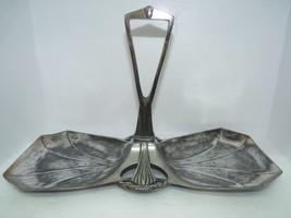 Antique WMF Marked Silver-Plate Art Deco Serving Platter Repousse Design... - $277.83